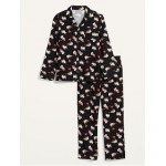 Patterned Flannel Pajama Sets for Men