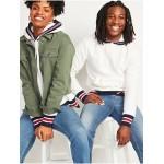 Gender-Neutral Micro Performance Fleece Tipped Pullover Hoodie for Men & Women